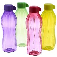 Tupperware Eco Sports 1 Litre Aqua Safe Water Bottle ( Set of 4) 32 Oz by Tupperware
