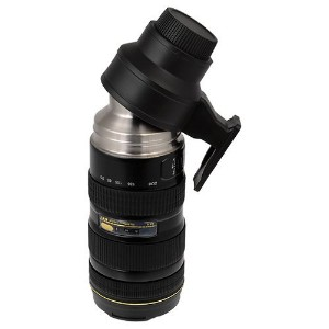 Thermo LenZcup, Stainless Steel Insulated, Travel Thermos w/ Cup (Modeling Nikkor AF-S 70-200mm f/2...