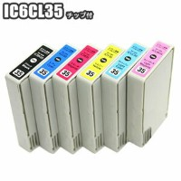 IC6CL35 【残量表示 ICチップ付き セット】 互換インク IC6CL35 ic35 EPSON エプソン ICBK35 ICC35 ICM35 ICY35 ICLC35 ICLM35 PM...