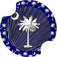 Thirstystone Blue Palmetto Car Cup Holder Coaster, by Thirstystone