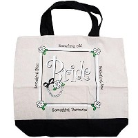Canvas Bride Tote Bag Wedding (Aprox. 18 x 20, 1 pc) by Perfect Seeking