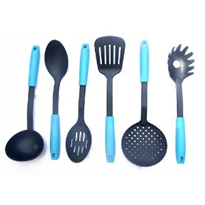 6 piece Kitchen Tools Set. High End Cookware Nylon Utensils. Premium Non-Stick Cooking Gadgets by...