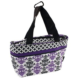 on-the-go soft-sided Insulated Lunch Tote Bag withハンドルby bogoブランド( 4色) パープル