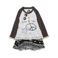 【65%OFF】Peace of Cake プリント レースコンビドレス n/a 2t ベビー用品 > 衣服~~ベビー服