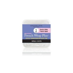 Dashing Diva - French Wrap Plus White - Thick French Band - Refill Size #1