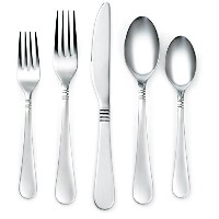 Corelle Coordinates Sarah Satin 20-Piece Flatware Set by CORELLE