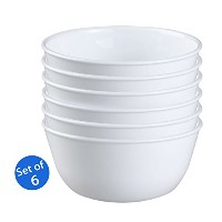 Corelle Livingware 1032595 28-Ounce Super Soup/Cereal Bowl, Winter Frost White - Set of 6 by...
