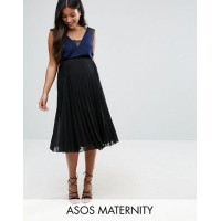 asos maternity over the bump pleated midi skirt スカート エイソス マタニティ ママ キッズ ベビー マタニティウエア