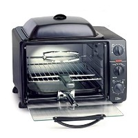 Elite Pro 23-Liter Toaster Oven with Rotisserie & Grill/Griddle Top with Lid by Elite Pro