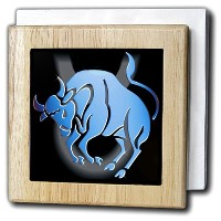 Zodiac Signs Horoscope – Taurus Zodiac Sign – タイルナプキンホルダー 6 inch tile napkin holder nh_919_1