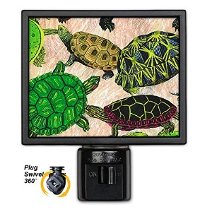 アートプレートnl-26 Turtles Night Light