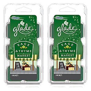 (2 Pack) Glade Limited Edition - Sage & Thyme Market - Wax Melts, 6 each by Glade
