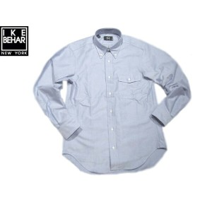 【期間限定30%OFF!】IKE BEHAR (アイクベーハー)/#MF1306LB FULL OPEN L/S B.D. OXFORD SHIRTS/blue
