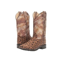 old west kids boots leopard print square toe (toddler little ブーツ kid)