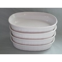 Set of 4 – Corning Ware Frenchホワイト個々475 ml Casserole Baking Dishes f-15-b