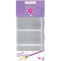 "Craft Mates Lockables 2XL Organizer 4 Compartments-9""X4.25""X1.25"" (並行輸入品)"