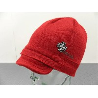 55DSL(FIFTY FIVE DSL)Beanie(ニットキャップ)レッド