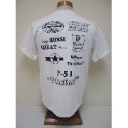 BuzzRickson's[バズリクソンズ] Tシャツ P-51 MUSTANG (OFF WHITE)