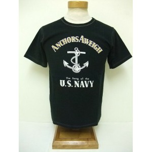 BuzzRickson's[バズリクソンズ] Tシャツ ANCHORS AWEIGH (BLACK)