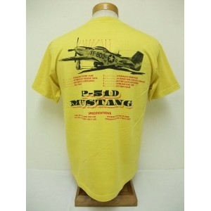 BuzzRickson's[バズリクソンズ] Tシャツ P-51 SPECIFICATIONS (GOLD)
