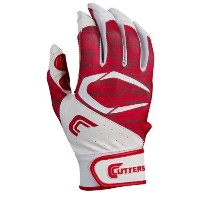 カッターズ メンズ 野球 グローブ【Cutters Power Control 2.0 Batting Gloves】White/Red