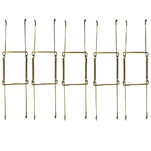 """wishave 5パック6-inch scratch-proof非表示プレート表示Hangers for the wall decoration Expandable to Hold 5"""" to..."""