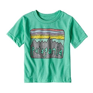 PATAGONIA(パタゴニア) Baby Fitz Roy Skies Cotton/Poly T-Shirt (80-110) Tシャツ 3T:97,GLHG:GREEN