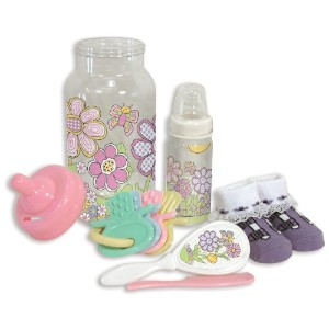 Stephan Baby Bottle Bank Gift Set, Pretty in Paisley Flutterby Garden by Stephan Baby