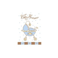 Baby Joy Blue Party Invitations for 8 Guests by Fun To Collect