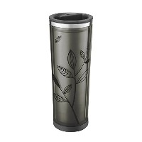 Takeya Leaf Pattern Tea/ Coffee Tumbler, Black/Black, 16oz by Takeya