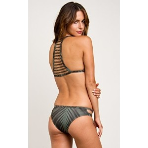 RVCA Womens Palm Triangle Bikini Top Dark Olive Medium