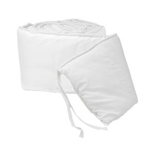 Tailored Baby Crib Bumpers - Color White by BabyDoll Bedding