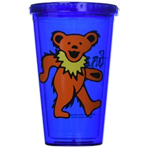 ICUP Grateful Dead Dancing Bear Cup with Straw、クリア