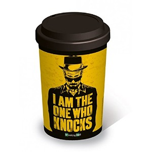 Breaking Bad – Insulatedセラミック旅行コーヒーマグ/カップ( Heisenberg : I Am The One Who Knocks )