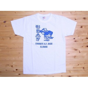 BuzzRickson's[バズリクソンズ] Tシャツ CHANUTE A.F. BASE BR75440 (WHITE)
