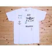 BuzzRickson's[バズリクソンズ] Tシャツ U.S.N. SEABEES BR75448 (WHITE)