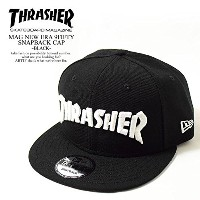 (スラッシャー)THRASHER MAG NEW ERA 9FIFTY SNAPBACK CAP -BLACK- FREE