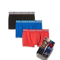 HUGO BOSS ヒューゴ ボス 3 PACK Emballage Cotton Stretch Boxer Shorts Boxeur 50271738960 Solid XL サイズ...