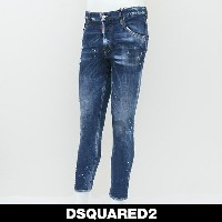 DSQUARED2(ディースクエアード)ダメージ加工スケータージーンズ/SKATER JEANS74LB0257