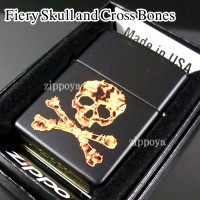 zippo ジッポー/ジッポ Fiery Skull and Cross Bones 28044