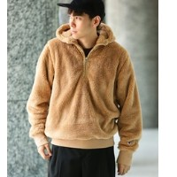 【Champion for ADAM ET ROPE'】 Sherpa Fleece Boa Hoodie【アダム エ ロペ/ADAM ET ROPE' パーカー】