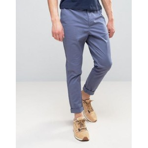 ASOS エイソス Tapered Chinos In Blue