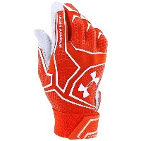 アンダーアーマー メンズ 野球 グローブ【Under Armour Yard Clutchfit Batting Gloves】Orange/Orange/White