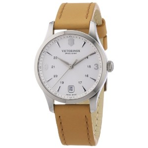 Swiss Army Alliance GMT Stainless Steel Womens Strap Watch Silver Dial Calendar 241541