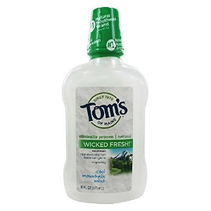 Tom's of Maine Long Lasting Wicked Fresh Cool Mountain Mint Mouth Wash, 16-Ounce Bottles (Pack of 6...
