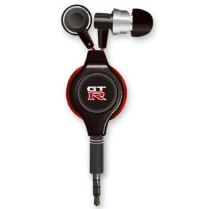 nismo(ニスモ/ニッサン) 【COLOR BLACK】GT-R STREO EARPHONE ブラック