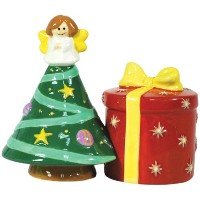 Westland Giftware Mwah磁気クリスマスツリーand present salt and pepper shakerセット、3 – 1 / 2インチ