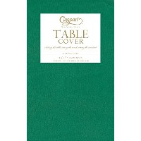 Entertaining with Caspari Moire Printed Paper Table Cover, 54 by 84-Inch, Green by Caspari