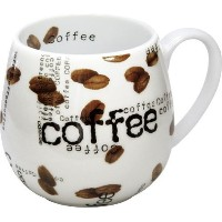 Konitz 14-Ounce Mugs Coffee Collage Snuggle Mugs, Assorted, Set of 4 [並行輸入品]