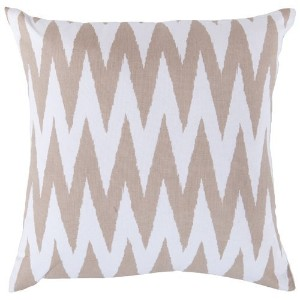 Surya LG-527 Hand Crafted 100% Cotton Safari Tan 18' x 18' Geometric Decorative Pillow [並行輸入品]